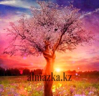 MKAZ001 Набор алмазный «Девушка — дерево»
