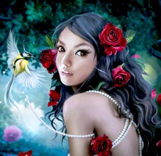 MKAZ018 Набор алмазный «Девушка — эльфийка»