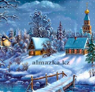 MKAZ019 Набор алмазный «Зимняя деревушка»