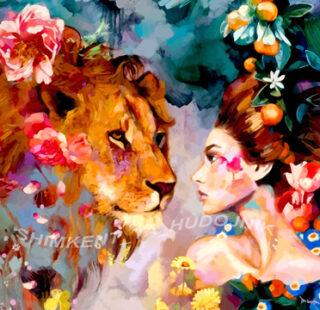 MKAZ31 Набор алмазный «Девушка и лев»