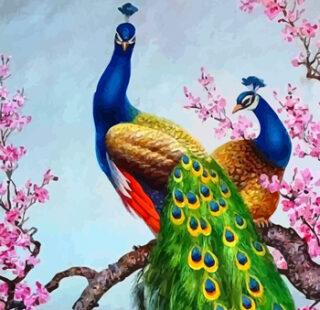 MKAZ054 Набор алмазный «Павлин в цветах»