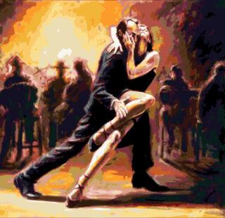 KAZ010 Раскраска по номерам «Танго страсти»