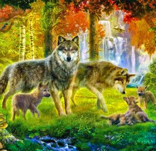 MKAZ100 Набор алмазный «Семья волков»