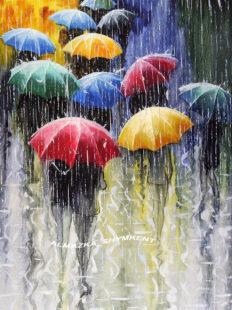 MKAZ087 Набор алмазный «Радужные зонтики»