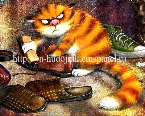 KAZ033 Раскраска по номерам «Злой рыжий кот» — Картины по ...