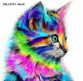 MKAZ513 Набор алмазный «Радужный котенок»