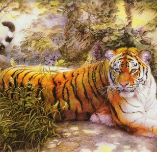 MKAZ380 Набор алмазный «Тигр на отдыхе»