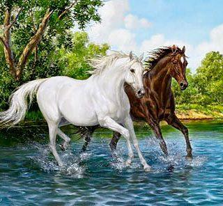 MKAZ408 Набор алмазный «Бегущие кони»