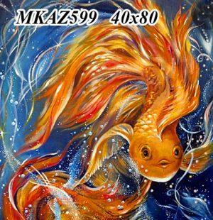 MKAZ599 Алмазный набор » Золотые рыбки»