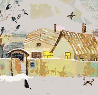 KAZ451 Раскраска по номерам «Дом напротив»
