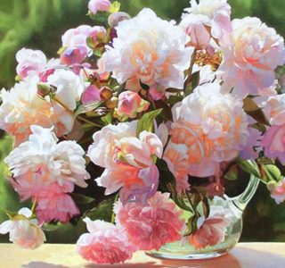 MKAZ725 Набор алмазный  «Пионы розовые»