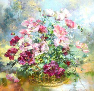 KAZ516 Раскраска по номерам «Чудесный нежный букет»