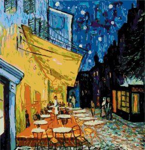 KAZ569 Раскраска по номерам «Ночное кафе»Ван Гог