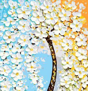 KAZ610 Раскраска по номерам «Волшебное дерево»