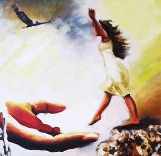 KAZ611 Раскраска по номерам «Рука помощи»