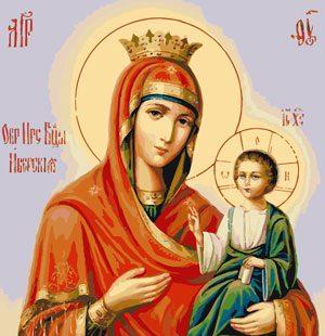KAZ623 Раскраска по номерам Икона «Мария и младенец»