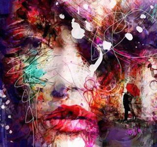 KAZ668 Раскраска по номерам «Девушка абстракция 2»