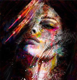 KAZ669 Раскраска по номерам «Девушка абстракция 3»