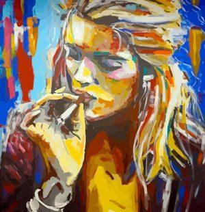 KAZ670 Раскраска по номерам «Девушка абстракция 4