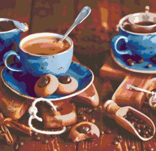 KAZ676 Раскраска по номерам «Завтрак»