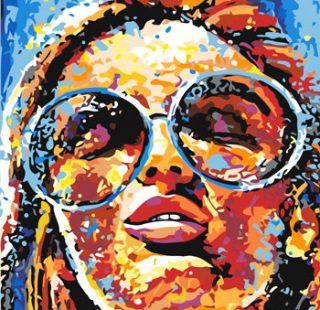 KAZ677 Раскраска по номерам «Радужная дева»