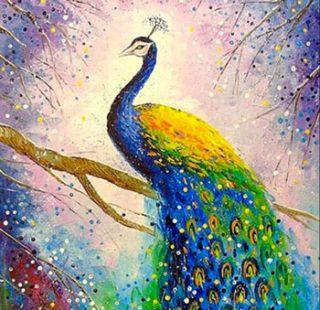 MKAZ781 Набор алмазный «Павлин в цветах»